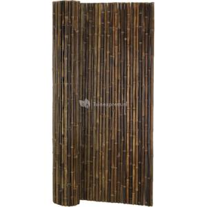 Bamboemat natuurlijk zwart extra grof
