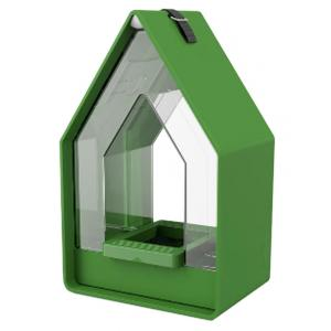 Dagaanbieding - Landhaus vogel voederhuisje met silo groen dagelijkse aanbiedingen