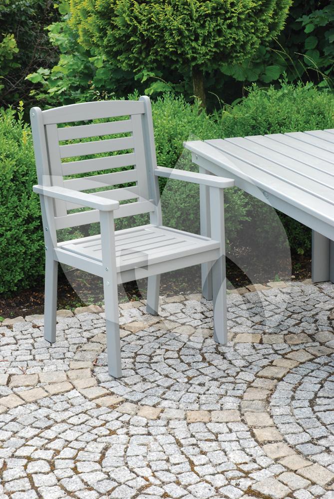 Esschert design tuinstoel met armleuning grijs for Tuinstoel grijs