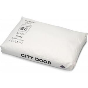 Ligkussen City Dogs wit - 100 x 70 x 12 cm