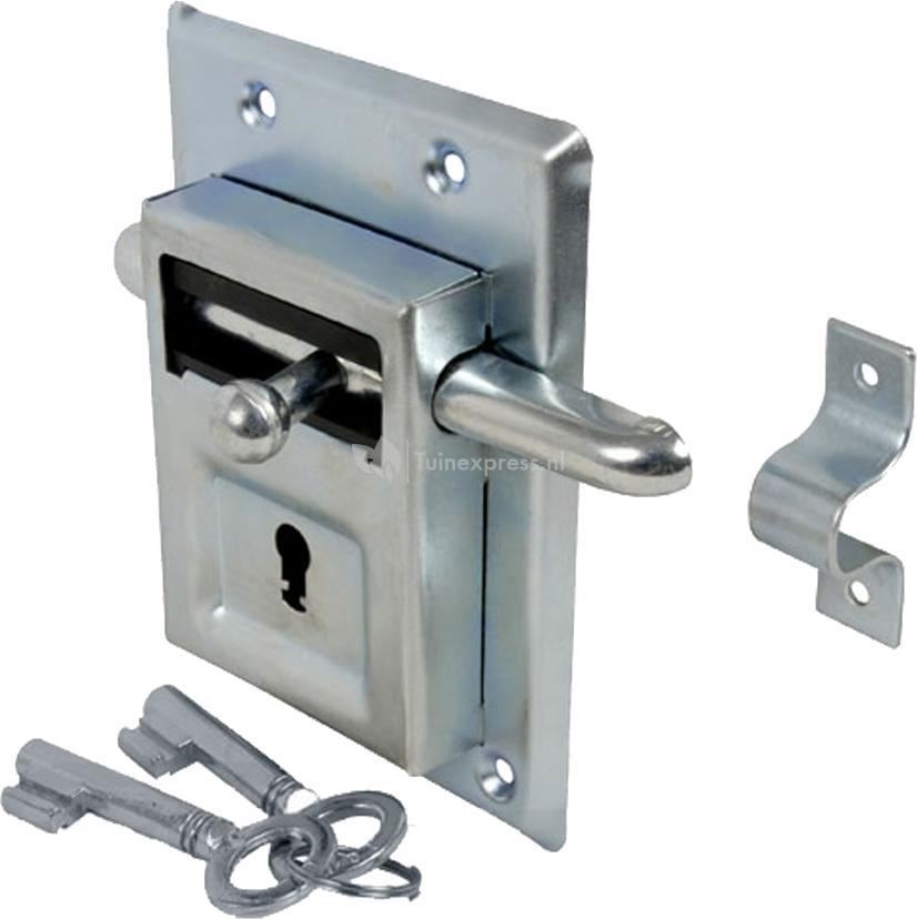Schuifslot met sleutel