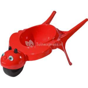 Kinderkruiwagen rolling bee rood