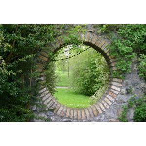Doorkijk rond tuinposter