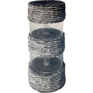 Tanaro waterornament compleet set inclusief verlichting, pomp, onderbak en afdekplaat hoogte ornament: 60 cm ...