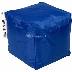Bill & Me zitzak kubus blauw