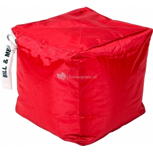 Bill & Me zitzak kubus rood