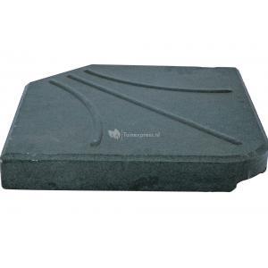 Dagaanbieding - Kruisvoet betontegel 25 kg zwart dagelijkse aanbiedingen