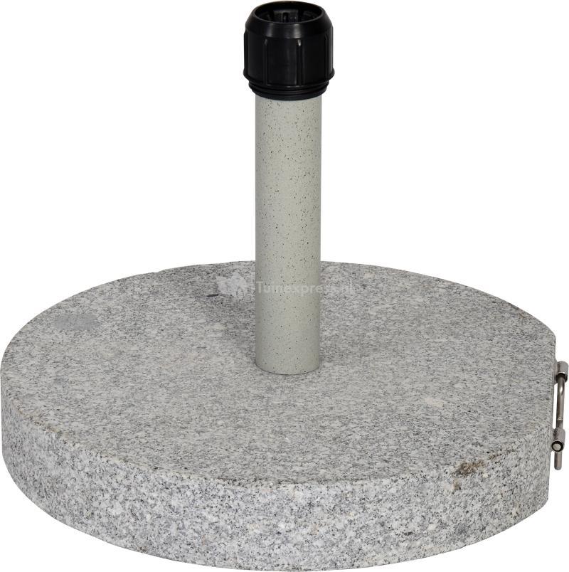 Express Parasolvoet graniet rond grijs 30 kg : Tuinexpress.nl