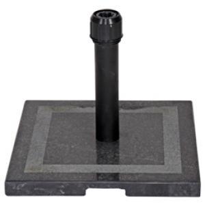 Dagaanbieding - Parasolvoet graniet vierkant zwart 20 kg dagelijkse aanbiedingen