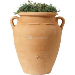 Dagaanbieding - Garantia Amphore regenton met bloembak 360 liter zand dagelijkse aanbiedingen
