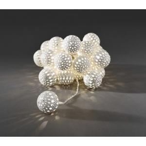 Dagaanbieding - LED deco lichtsnoer witte metalen ballen dagelijkse aanbiedingen
