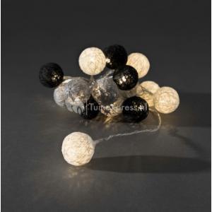 LED lichtsnoer textielbollen 3.5cm