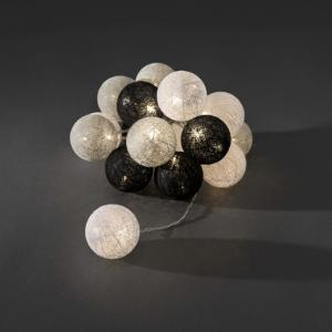 LED lichtsnoer textielbollen 6cm