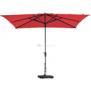 Dagaanbieding - Madison parasol Syros Luxe vierkant 280 cm rood dagelijkse aanbiedingen