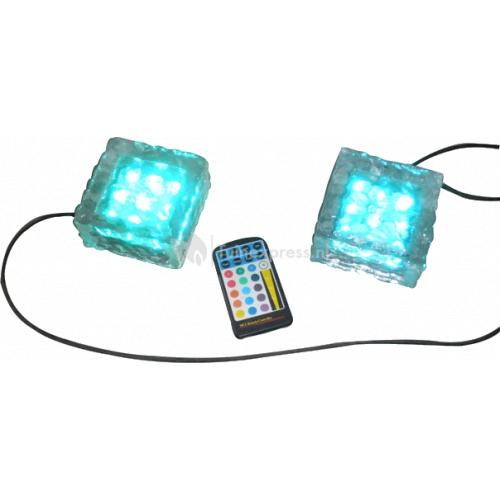 Crystal Square light incl. rgb controller