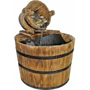 Nuevo waterornament afmetingen (lxbxh): 44 x 44 x 51 cm de houten vaten waterornamenten hebben een laag ...