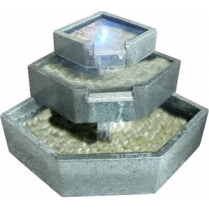Patio natuurstenen waterornament complete granieten terrasvijverset kan zonder graafwerk in de tuin ...