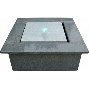 Quattro natuurstenen waterornament complete granieten terrasvijverset kan zonder graafwerk in de tuin ...