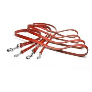 Lederen looplijn geniet rood - 100 cm x 16 mm