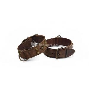 Leren honden halsband mohican - 70 cm x 45 mm