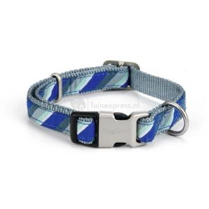 Nylon honden halsband diago blauw - 35-50 cm x 20 mm