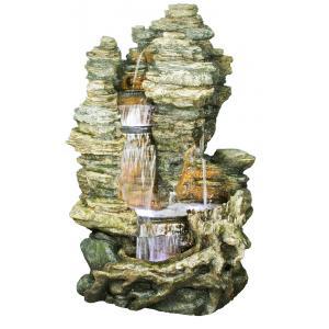 Miami waterornament breng leven in uw tuin met deze indrukwekkende rots voorzien van een prachtige waterval! ...