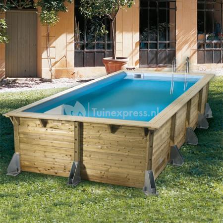 Ubbink zwembad azura 350x505 for Houten zwembad bouwen
