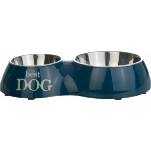 Melamine dinerset Best Dog - Grijs-37 x 22 cm
