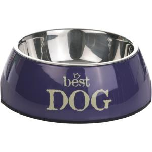 Melamine eetbak Best Dog - Blauw-27 x 9 cm
