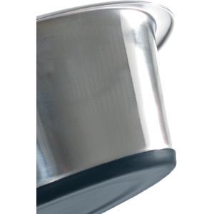 Rvs eet of drinkbakje met antislip bodem - 13 cm