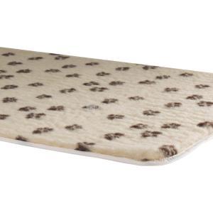 Vetbed afgebiesd met voetprint Beige - 120 x 75 cm