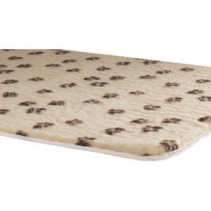 Vetbed afgebiesd met voetprint en antislip - Beige-120 x 75 cm