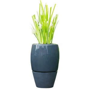 Waterornament waterfall curved off black breng leven en sfeer in uw tuin, terras of op uw balkon met deze ...