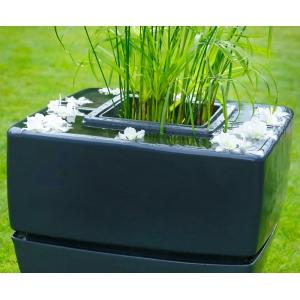 Waterornament waterfall square off black breng leven en sfeer in uw tuin, terras of op uw balkon met deze ...