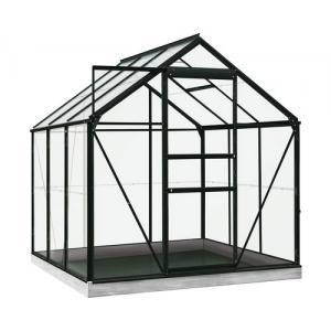 ACD tuinkas Daisy 3.8m2 - zwart – veiligheidsglas