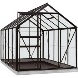 ACD tuinkas Lily 6.2m2 - zwart  veiligheidsglas