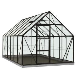 ACD tuinkas Oliver 9.9m2 - zwart – veiligheidsglas