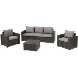 Allibert loungeset California 3-zits grafiet