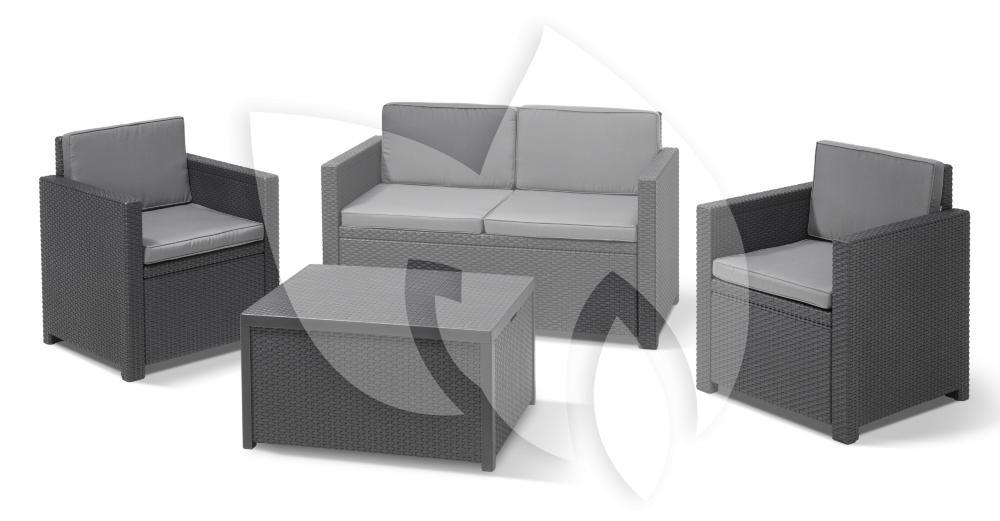 allibert monaco loungeset. Black Bedroom Furniture Sets. Home Design Ideas