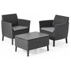 allibert salemo balkon loungeset antraciet. Black Bedroom Furniture Sets. Home Design Ideas