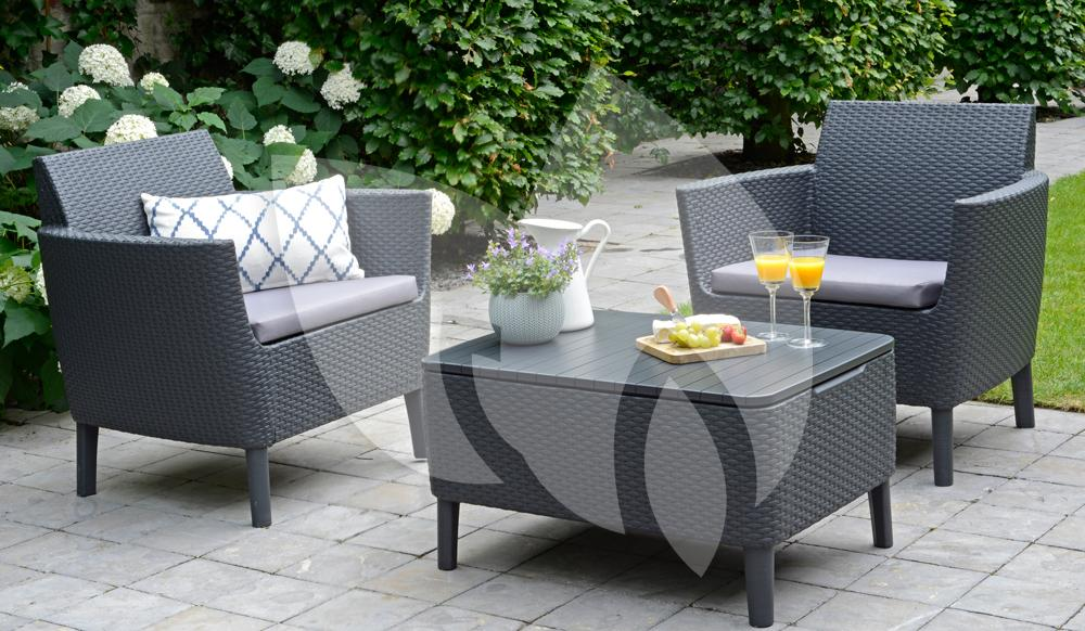lounge set balkon lounge set poly rattan couch sofa tisch outdoor terrasse balkon in essen with. Black Bedroom Furniture Sets. Home Design Ideas