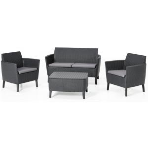 Salemo loungeset 2 zits antraciet