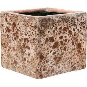 Dagaanbieding - Lava Relic Pink Cube bloempot binnen 20x20x20 cm dagelijkse aanbiedingen