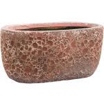 Lava Relic Pink ovale bloempot binnen 31x18x15 cm