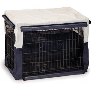 Hoes voor hondenbench benco beige/blauw 78 x 55 x 61 cm