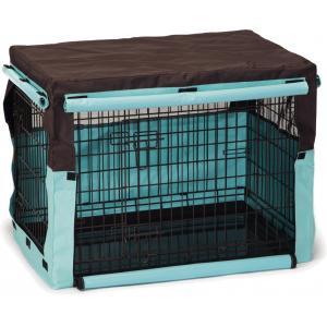 Dagaanbieding - Hoes voor hondenbench bruin/mint 78 x 55 x 61 cm dagelijkse aanbiedingen