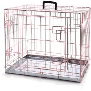 Hondenbench 2 deurs roze  62 x 44 x 49 cm