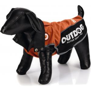 Honden regenjas Outdog oranje/zwart XL 47 cm