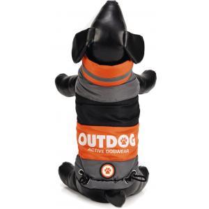 Hondenjas Outdog oranje/grijs M 31 cm