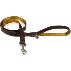 Hondenriem Mac Leater soft touch 120cm x 25mm bruin